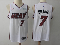 New Mens Nba Miami Heat #7 Goran Dragic White Nike Player Jersey