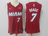Mens Nba Miami Heat #7 Goran Dragic Red Nike Player Jersey