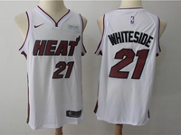 Mens Nba Miami Heat #21 Hassan Whiteside White Nike Player Jersey