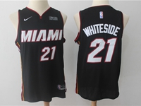 Mens Nba Miami Heat #21 Hassan Whiteside Black Nike Player Jersey