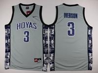 Mens Nba Philadelphia 76ers #3 Allen Iverson Gray Nike Jersey