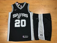 Mens Nba San Antonio Spurs #20 Manu Ginobili Black Nike Suit Jersey