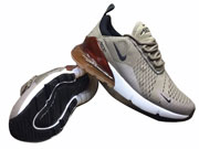 Mens Nike 270 Running Shoes Coffee Colour