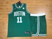 Mens Nba Boston Celtics #11 Kyrie Irving Green Nike Suit Jersey