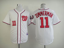 Youth Majestic Washington Nationals #11 Ryan Zimmerman White Cool Base Jersey