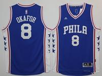 Mens Nba Philadelphia 76ers #8 Jahlil Okafor Blue Jersey