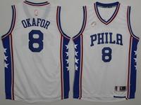 Mens Nba Philadelphia 76ers #8 Jahlil Okafor White Jersey