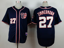 Mens Majestic Washington Nationals #27 Jordan Zimmermann Blue Cool Base Jersey