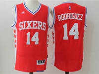 Mens Nba Philadelphia 76ers #14 Sergio Rodriguez Red Jersey