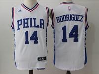 Mens Nba Philadelphia 76ers #14 Sergio Rodriguez White Jersey