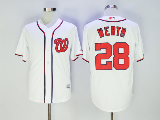 Mens Mlb Washington Nationals #28 Jayson Werth White Jersey