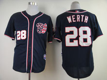 Youth Mlb Washington Nationals #28 Jayson Werth Blue Cool Base Jersey