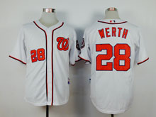 Youth Mlb Washington Nationals #28 Jayson Werth White Cool Base Jersey