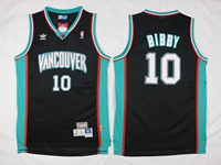 Mens Nba Vancouver Grizzlies #10 Mike Bibby Black Swingman Jersey
