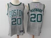Mens Nba Boston Celtics #20 Gordon Hayward Gray Nike City Edition Swingman Jersey