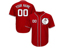 Mens Womens Youth Mlb Washington Nationals Custom Made Red Cool Base Jersey