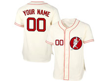 Mens Womens Youth Mlb Washington Nationals Custom Made Cream Cool Base Jersey