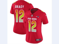 Women Nfl New England Patriots #12 Tom Brady Red 2018 Pro Bowl Vapor Untouchable Jersey