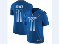 Mens Nfl Atlanta Falcons #11 Julio Jones Blue 2018 Pro Bowl Vapor Untouchable Jersey