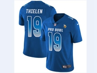 Mens Nfl Minnesota Vikings #19 Adam Thielen Blue 2018 Pro Bowl Vapor Untouchable Jersey