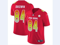 Mens Nfl Pittsburgh Steelers #84 Antonio Brown Red 2018 Pro Bowl Vapor Untouchable Jersey