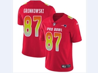 Mens Nfl New England Patriots #87 Rob Gronkowski Red 2018 Pro Bowl Vapor Untouchable Jersey