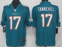Mens Miami Dolphins #17 Ryan Tannehill Green Vapor Untouchable Limited Player Jersey