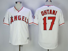Mens Mlb Los Angeles Angels #17 Shohei Ohtani White Cool Base Jersey