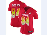 Women Nfl Pittsburgh Steelers #84 Antonio Brown Red 2018 Pro Bowl Vapor Untouchable Jersey