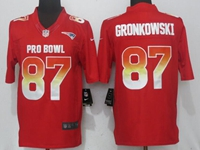 New Nfl New England Patriots #87 Rob Gronkowski Red Nike Royal 2018 Pro Bowl Limited Jersey