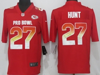 New Mens Nfl Kansas City Chiefs #27 Kareem Hunt Red Nike Royal 2018 Pro Bowl Limited Jersey