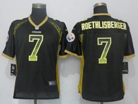 Women Nfl Pittsburgh Steelers #7 Ben Roethlisberger Black Drift Fashion Elite Nike Jersey