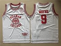 Nba Hillman College #9 Dwayne Wayne White Movie Throwback Mesh Jersey