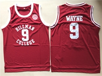 Nba Hillman College #9 Dwayne Wayne Red Movie Throwback Mesh Jersey