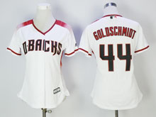 Women Mlb Arizona Diamondbacks #44 Paul Goldschmidt New White Cool Base Jersey