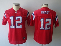 Women Nfl New England Patriots #12 Tom Brady Red 2018 Elite Jersey