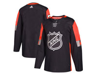 Mens 2018 Nhl All-star Game Blank Breakaway Adidas Black Jersey