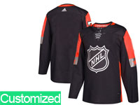 Mens 2018 Nhl All-star Game Custom Made Breakaway Adidas Black Jersey