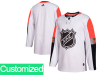 Mens 2018 Nhl All-star Game Custom Made Breakaway Adidas White Jersey