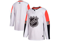 Mens 2018 Nhl All-star Game Blank Breakaway Adidas White Jersey