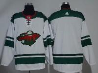 Mens Nhl Minnesota Wild Blank White Adidas Jersey