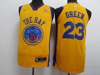 Mens Nba Golden State Warriors #23 Draymond Green Gold Nike City Edition Swingman Jersey