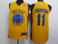 Mens Nba Golden State Warriors #11 Klay Thompson Gold Nike City Edition Swingman Jersey