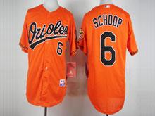 Mens Mlb Baltimore Orioles #6 Jonathan Schoop Orange Cool Base Jersey