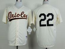 Mens Mlb Baltimore Orioles #22 Palmer Cream ( No Name)throwbacks Jersey