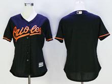 Women Mlb Baltimore Orioles Blank Black Cool Base Jersey