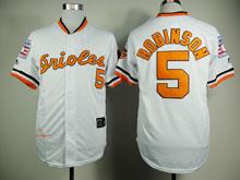 Mens Mlb Baltimore Orioles #5 B.robinson White Throwbacks Jersey