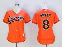 Women Mlb Baltimore Orioles #8 Cal Ripken Orange Cool Base Jersey
