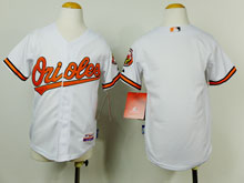 Youth Mlb Baltimore Orioles Blank White Cool Base Jersey