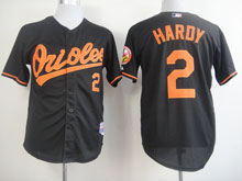 Mens Mlb Baltimore Orioles #2 Hardy Black Cool Base Jersey